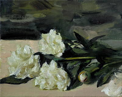 Painting - Stomy Weather For Beached Peonies by Robert Holden