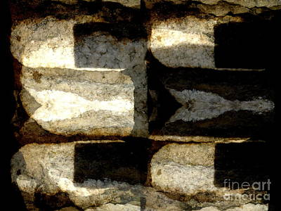 Photograph - Stone Abstract by Barbara Moignard