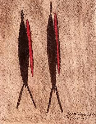 Stone Age Men Art Print