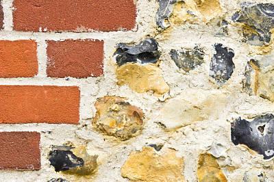 Stone And Brick Wall Art Print by Tom Gowanlock