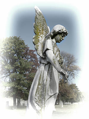 Photograph - Stone Angel by Ann Powell