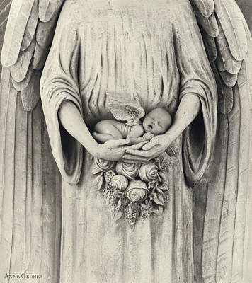 Angel Photograph - Stone Angel by Anne Geddes