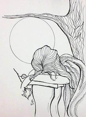 Drawing - Stone Angel by Loretta Nash