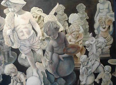 Painting - Stone Angels by Victoria Heryet
