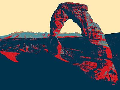 Park Scene Painting - Stone Arch Arches National Park by Celestial Images