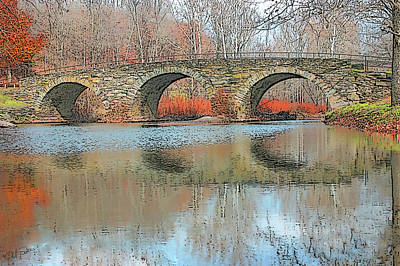 Photograph - Stone Arch Bridge - Autumn by Ericamaxine Price