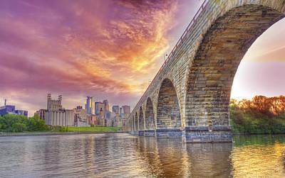Stone Arch  Bridge Art Print by Bill Frische