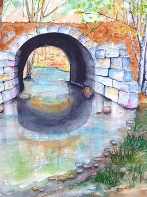 Painting - Stone Arch Bridge Dunstable by Carlin Blahnik CarlinArtWatercolor