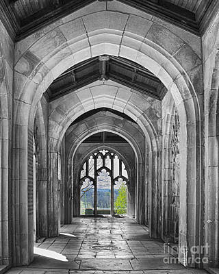 Selective Color Photograph - Stone Archways by Tom Gari Gallery-Three-Photography