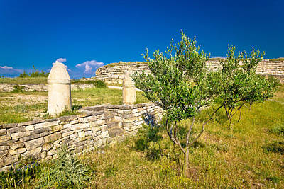 Photograph - Stone Artefacts Of Asseria Ancient Town by Brch Photography