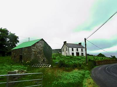 Photograph - Stone Barn And Farm House by Stephanie Moore
