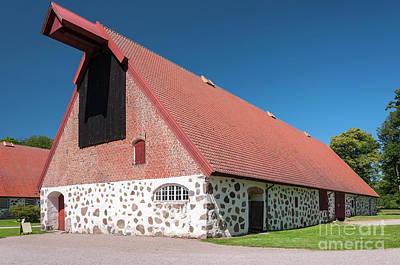 Photograph - Stone Barn At Wanas Castle by Antony McAulay