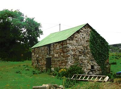 Photograph - Stone Barn In Donegal by Stephanie Moore