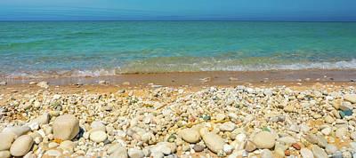 Photograph - Stone Beach At Lake Michigan by Dan Sproul