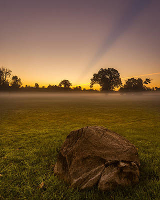 Photograph - Stone Before A Misty Meadow by Chris Bordeleau