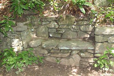 Stone Bench Art Print