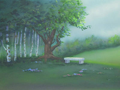 Painting - Stone Bench by Dominic Sanson