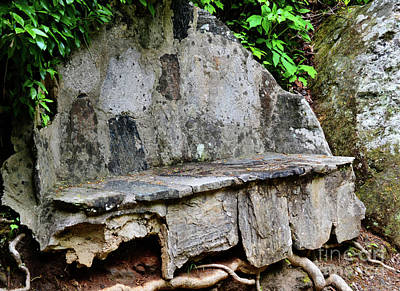 Stone Bench Two Art Print