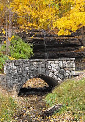 Creve Coeur Park Photograph - Stone Bridge And Dripping Spring by Ginger Repke