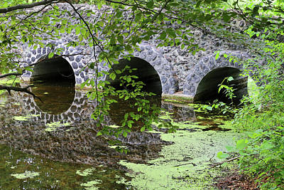 Photograph - Stone Bridge And Reflection 2 062618 by Mary Bedy