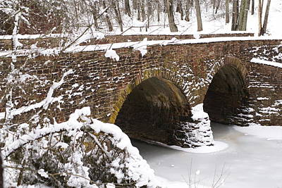 Stone Bridge At Bullrun Virginia Art Print by Heidi Poulin