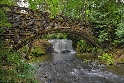 Stone Bridge At Whatcom Falls Park Art Print