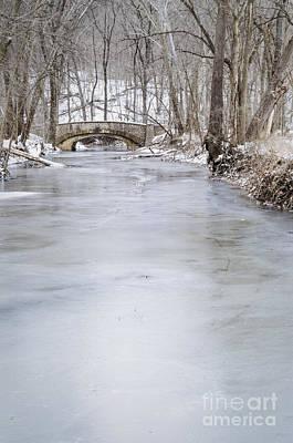 Photograph - Stone Bridge In Winter by Tamara Becker