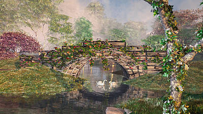 Digital Art - Stone Bridge by Mary Almond