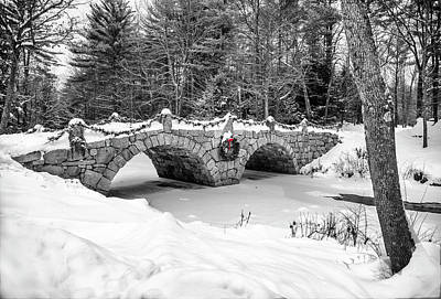 Photograph - Stone Bridge Over Beard's Brook by Gordon Ripley