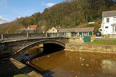 Waterway Photograph - Stone Bridge Over East Row Beck - Sansend by Rod Johnson