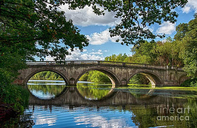 Stone Bridge Over The River 590  Art Print