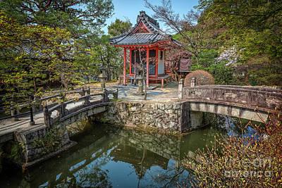 Photograph - Stone Bridge To Shrine At Kiyomizudera by Karen Jorstad
