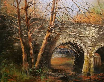 Stone Bridge Art Print by Tom Shropshire