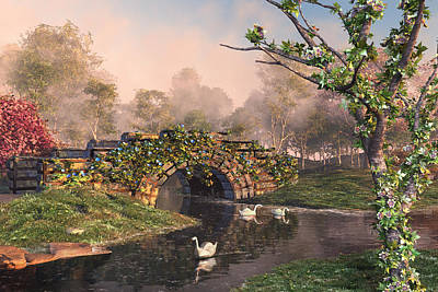 Digital Art - Stone Bridge Two by Mary Almond