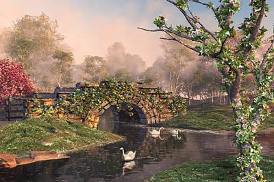 Digital Art - Stone Bridge Two by Mary Almond