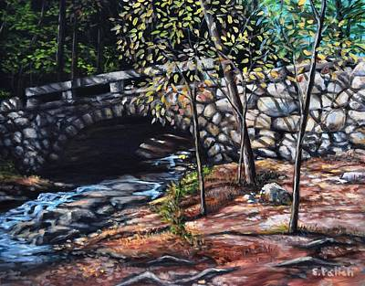 Painting - Stone Bridge, Vaughan's Woods by Eileen Patten Oliver