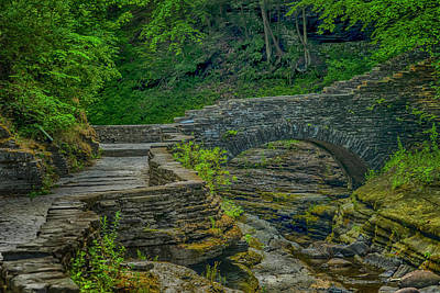 Photograph - Stone Bridge Watkins Glen State Park_dsc9557_16 by Greg Kluempers