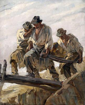 Painting - Stone Brokers At Work by Friedrich von Keller