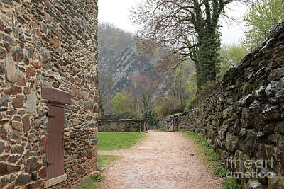Photograph - Stone Building Wall And Fence by Carol Groenen