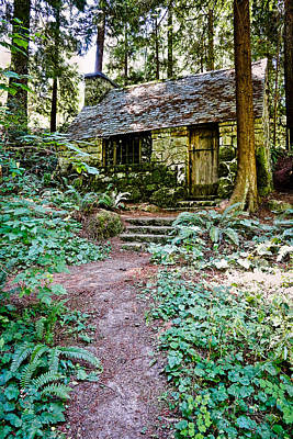 Photograph - Stone Cabin In The Woods by Athena Mckinzie
