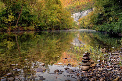 Photograph - Stone Cairn At Steele Creek by James Barber