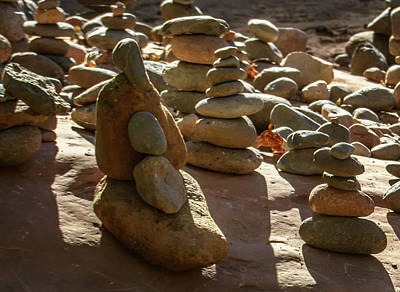 Photograph - Stone Cairns 7791-101717-1cr by Tam Ryan