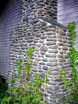 Photograph - Stone Chimney by Will Borden