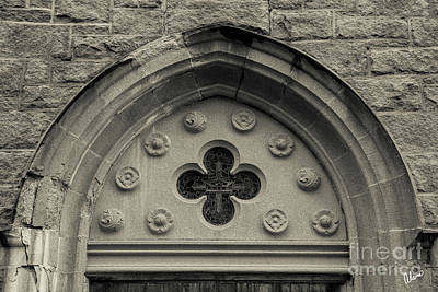 Photograph - Stone Church Door Detail by Alana Ranney