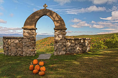 Photograph - Stone Church Pumpkins by Angelo Marcialis