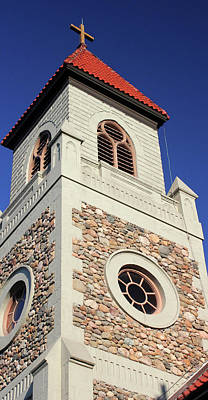 Photograph - Stone Church Tower 1 by Mary Bedy