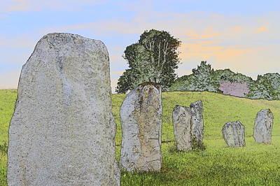 Digital Art - Stone Circle Avebury by Wendy Le Ber