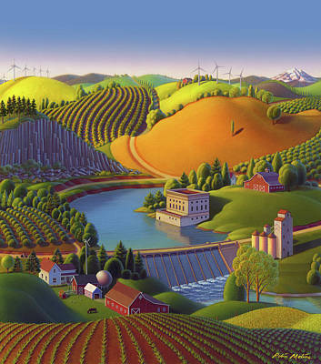 Washington State Painting - Stone City West by Robin Moline
