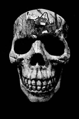 Photograph - Stone Cold Jeeper Skull Tj Wrangler by Luke Moore