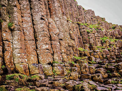 Photograph - Stone Columns Giants Causeway by Lexa Harpell